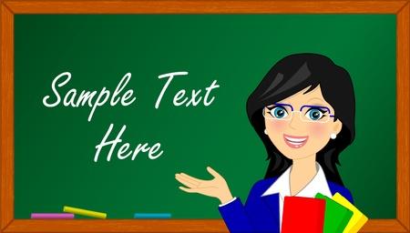 principal: Vector llustration of teacher in class