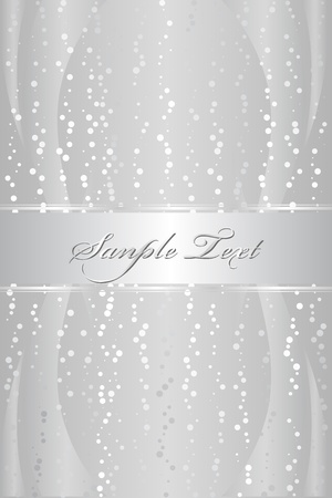 Silver luxury background Stock Vector - 12012369