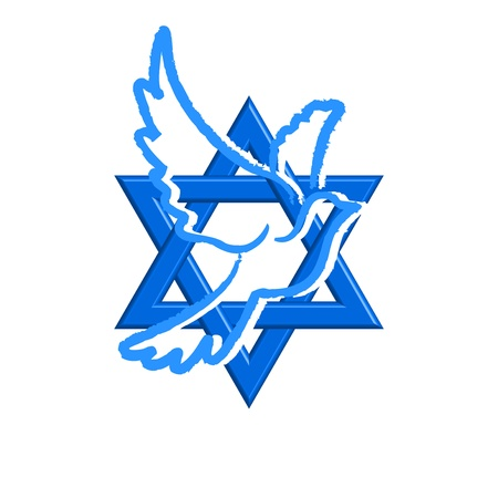 zionism: Star of David & pegeion
