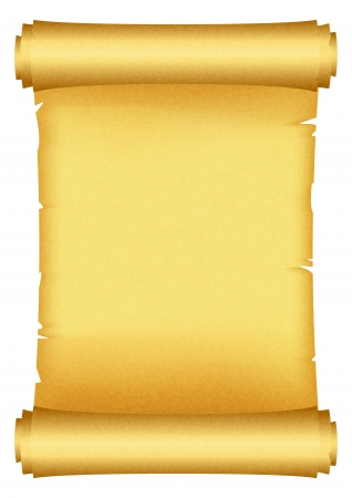 пергамент: Векторные иллюстрации прокрутки Иллюстрация