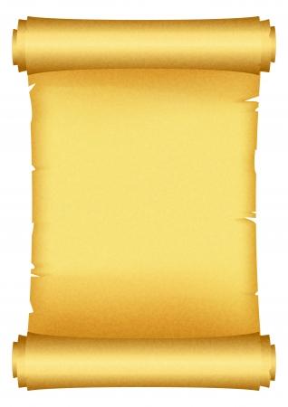 papiro: Illustrazione vettoriale di scroll Vettoriali