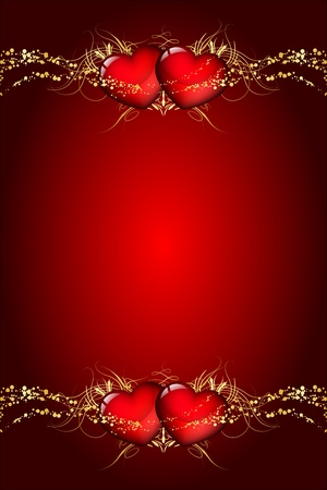 Velentines day wish card Vector