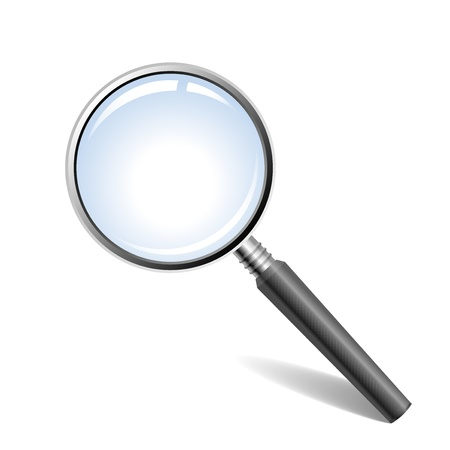 magnification: Vector illustration of magnifying glass