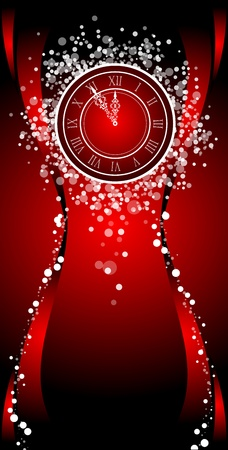 number 12: New Year wish Card with clock