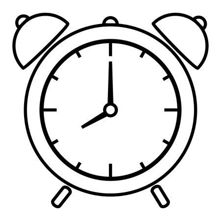 pm: Vector illustration of alarm clock Illustration