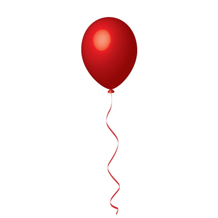 globos de cumplea�os: Ilustraci�n vectorial de globo rojo
