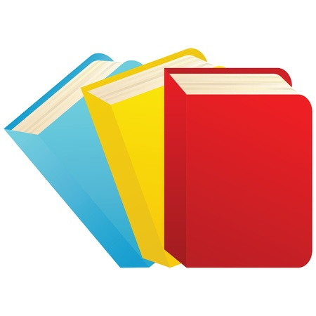 Vector illustration of colorful books   Stock Vector - 12358004