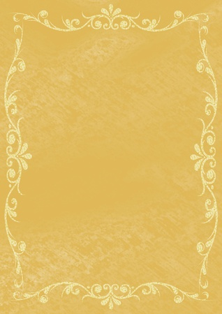 Old paper with gold ornaments photo