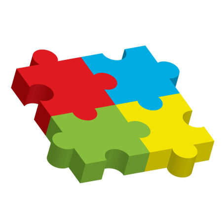 missing puzzle piece: Vector illustration of puzzle