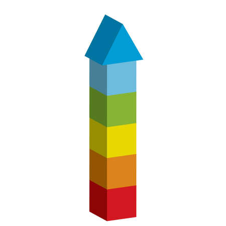 od: Vector illustration od colorful tower