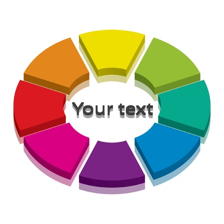 painter palette: Vector illustration of colorful cycle-icon with space for your text