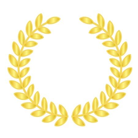 premi: Illustrazione vettoriale di allori d'oro Vettoriali