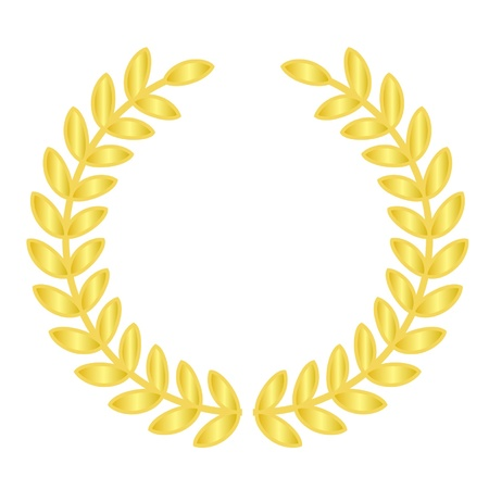 laurels: Vector illustration of gold laurels