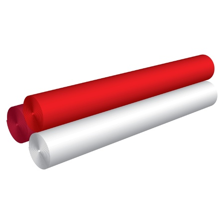 Vector illustration of material roll Vector