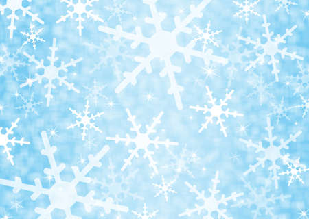 Festive blue background with snowflakes  photo