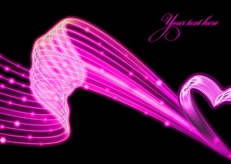 Background with pink glowing heart  photo