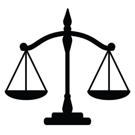 balanza justicia: Ilustraci�n vectorial de las escalas de la justicia