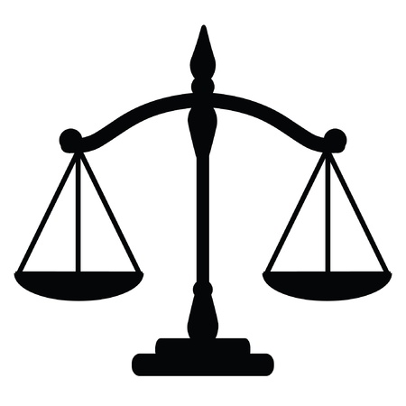 scale weight: Vector illustration of justice scales