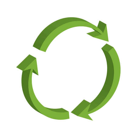 Vector illustration of recycling symbol  Vector