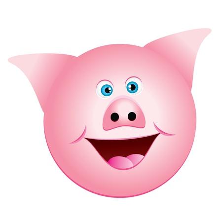 eye disease: Vector illustration of pig Illustration