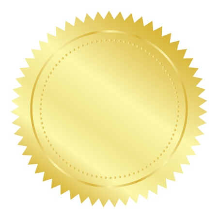seal wax: Vector illustration of gold seal