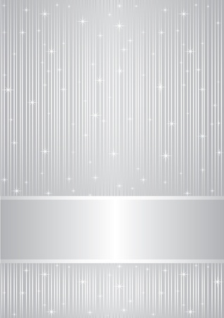 Vector silver background with sparkles   Vector