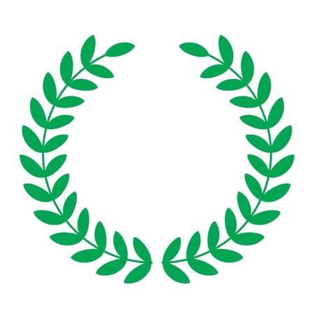 laurel leaf: Ilustraci�n vectorial de laureles Vectores