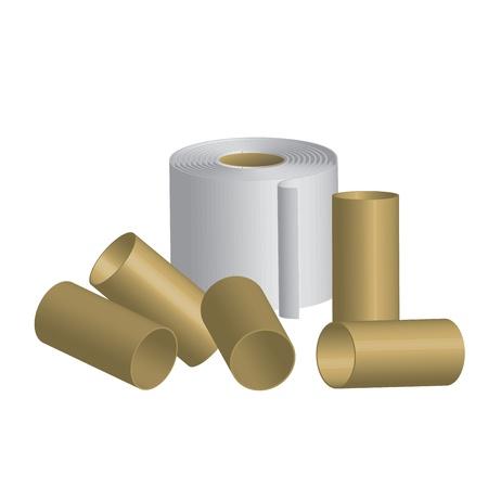 excrement: Illustrazione vettoriale di carta igienica