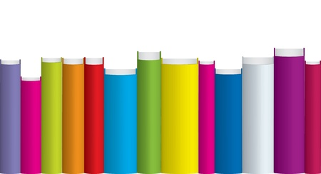 shelf with books: Vector illustration of colorful books   Illustration