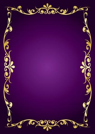 golden border: Luxury background Illustration
