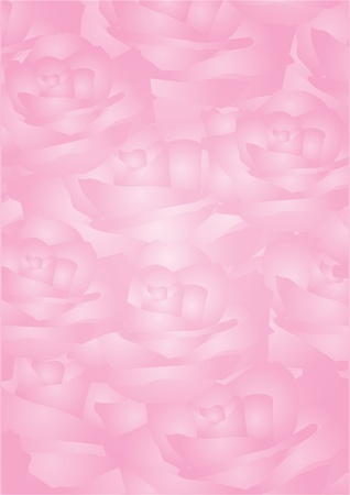 Vector pink background with roses   Vector