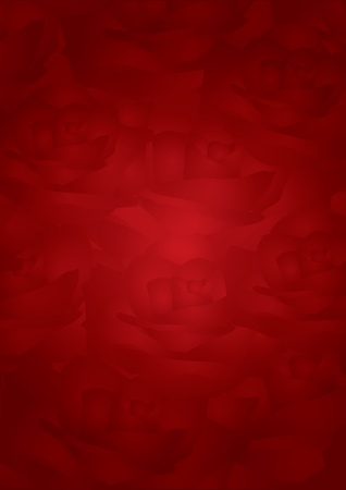Vector red background with roses   Vector
