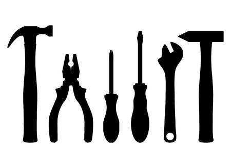 the hammer: Ilustraci�n vectorial de las herramientas de trabajo