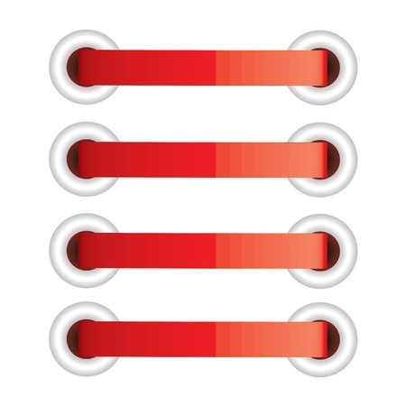 rubber ring: Vector illustration of red lacing Illustration