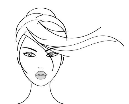beauty make up: Illustrazione vettoriale di bella donna