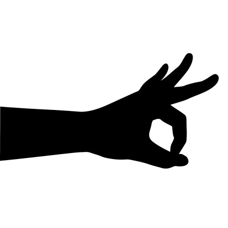 Vector illustration of hand (perfect o.k symbol)   Vector