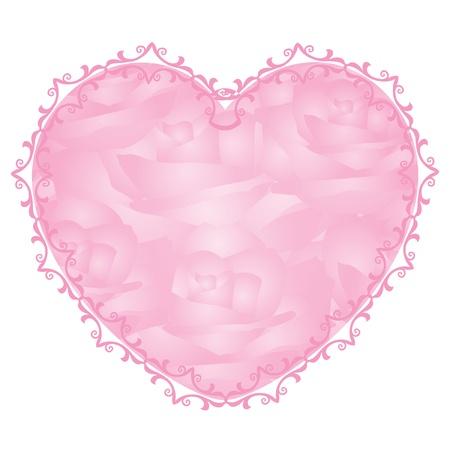 gentleness: Vector pink heart - notepaper   Illustration