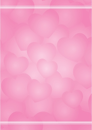 Vector valentine background with pink hearts   Vector