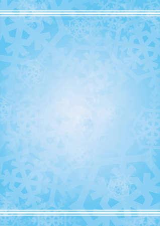 neige qui tombe: Vecteur de fond bleu avec des flocons de neige