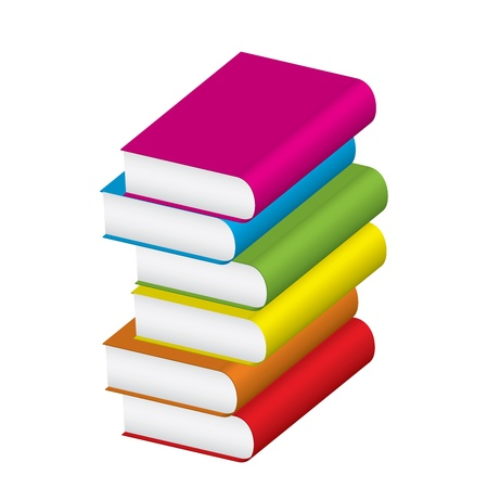 Vector illustration of stack of colorful books   Stock Vector - 12358061