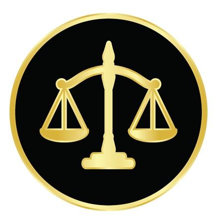 integrit�: Illustrazione vettoriale di bilancia della giustizia