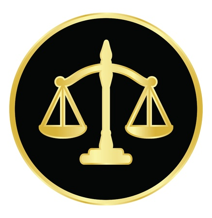 law: Vector illustration of justice scales