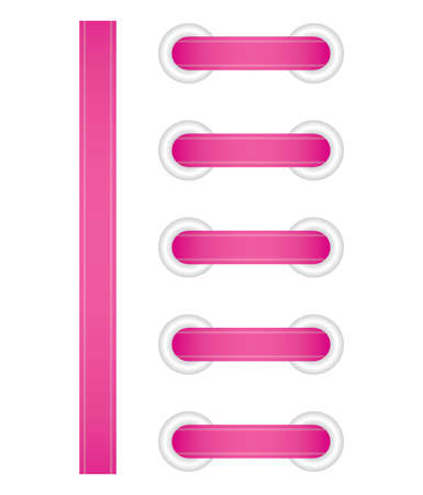 pink satin: Vector illustration of pink lacing