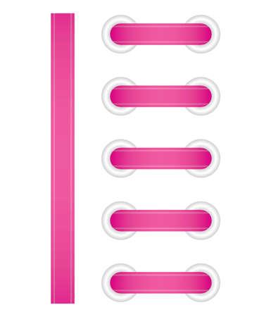 lacing: Vector illustration of pink lacing