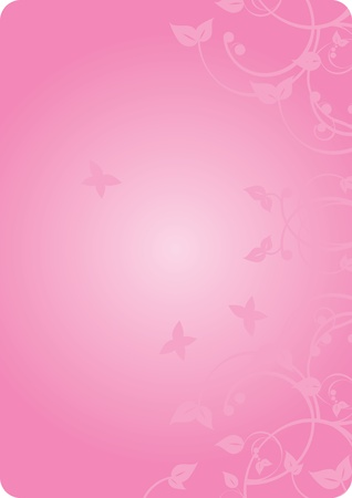 Vector pink background with flowers   Vector