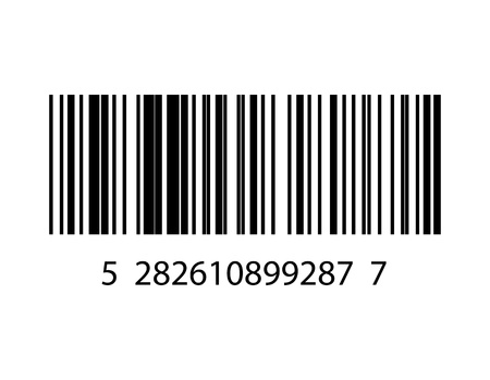 number code: Vector illustration of barcode
