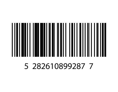 Ordinal: Vektor-Illustration von Barcode- Illustration