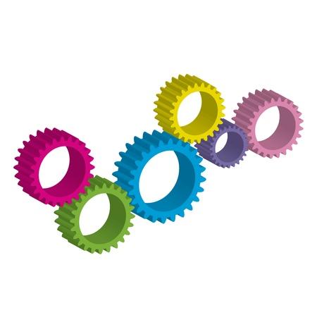 consept: Vector illustration of cog-wheel