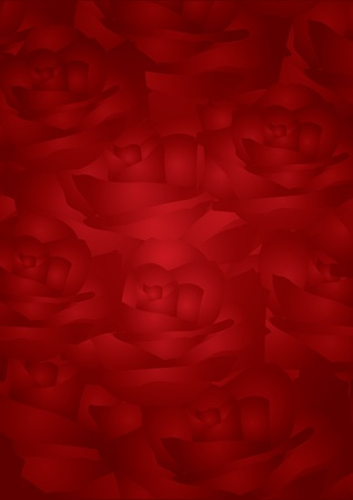 red roses background Stock Vector - 12670594