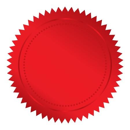 illustration de sceau rouge